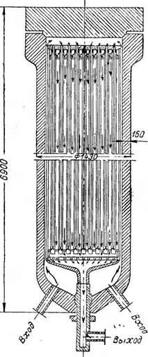 Контактный аппарат для синтеза аммиака под наиболее низким давлением