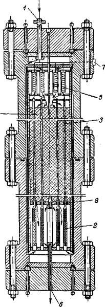 Реконструированная колонна синтеза аммиака c падающим температурным режимом