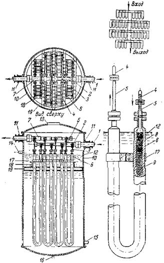 Парофазный трубчатый реактор к установке гидрирования угля под давлением 700 am