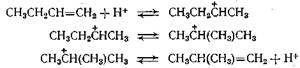 изомеризация   н-олефина   в   изоолефин