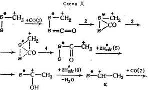 Первичный комплекс в виде карбониевого иона