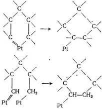 приведены  некоторые  из  возможных структур промежуточных циклических соединений