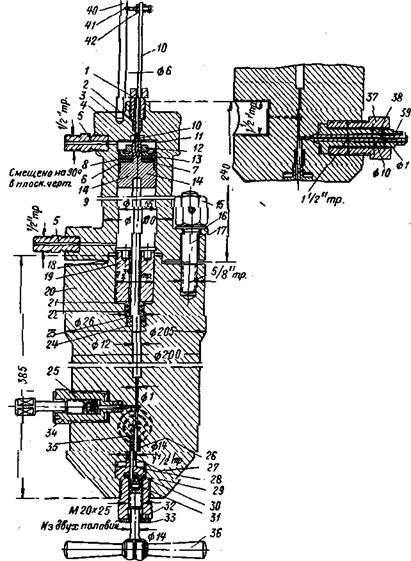 Гидравлический пресс-мультипликатор, работающий при давлении 10000 am
