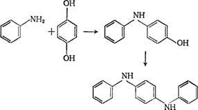 При взаимодействии анилина с гидрохиноном в присутствии триэтилфосфата образуется п-анилинофенол