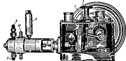 Насос с регулировкой подачи на ходу конструкции Т. П. Блохина