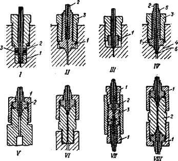 Соединения труб для сверхвысоких давлений и присоединение их к аппаратам