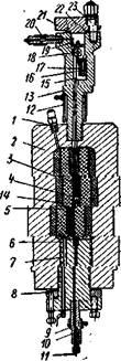 Аппарат для определения вязкости под давлением до 1000 am при температурах до 1500-2000°