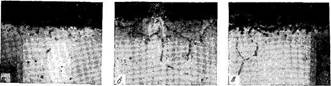 Глубина коррозии хромо-никелевой стали при длительном выдерживании в псевдоожиженном слое угля и водяного пара при 950 С
